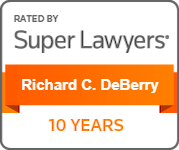 Richard DeBerry 10-Year Super Lawyer Badge